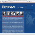 Donovan for Senate Home Page