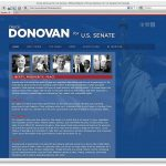 Donovan for Senate Home Page