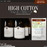 High Cotton Wine & Cheese Co. Website