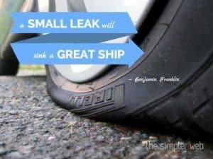A small leak