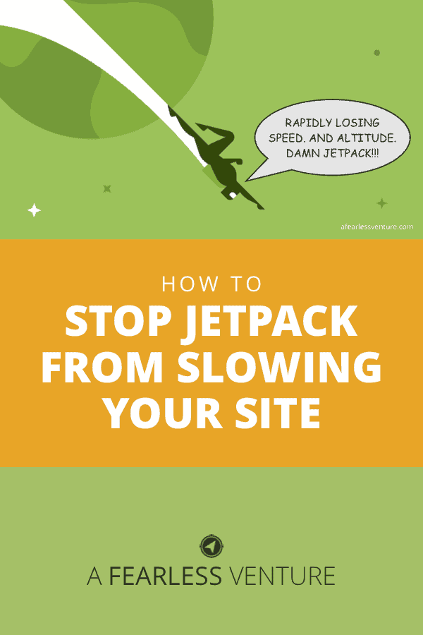 With a name like Jetpack, it's easy to think this plugin will make your WordPress site extra zippy. Or, at least, that it won't slow things down. But nooooo…HOW you use it is as big a deal as IF you use it. I break it down for you, nice, easy, and a little bit snarky. #WordPress #sitespeed #Jetpack #plugin #pagespeed