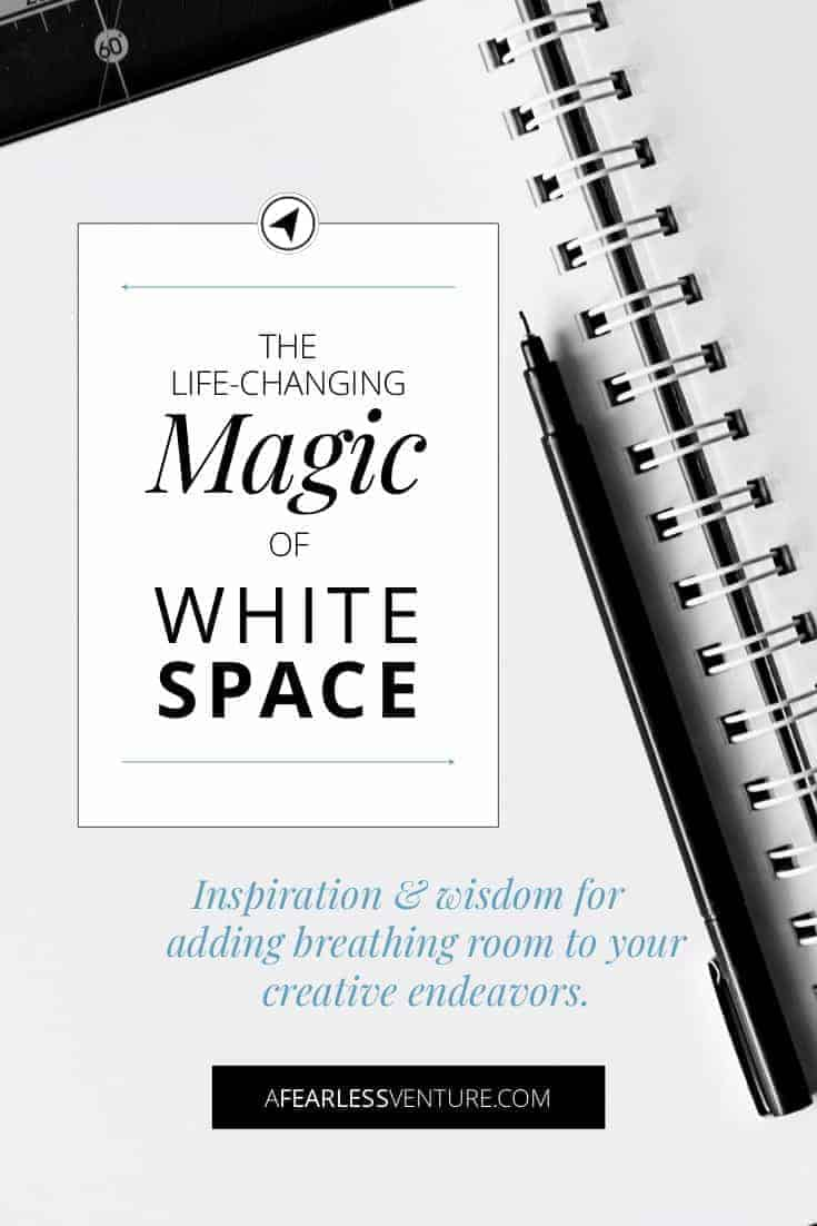 Creative endeavors are more likely to thrive when allowed ample whitespace. Find wisdom & inspiration to stop the busy-ness that hurts our business. #design #business #life #entrepreneurship #blogging