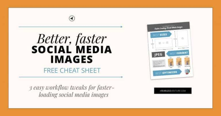 3 easy workflow tweaks for faster-loading social media images