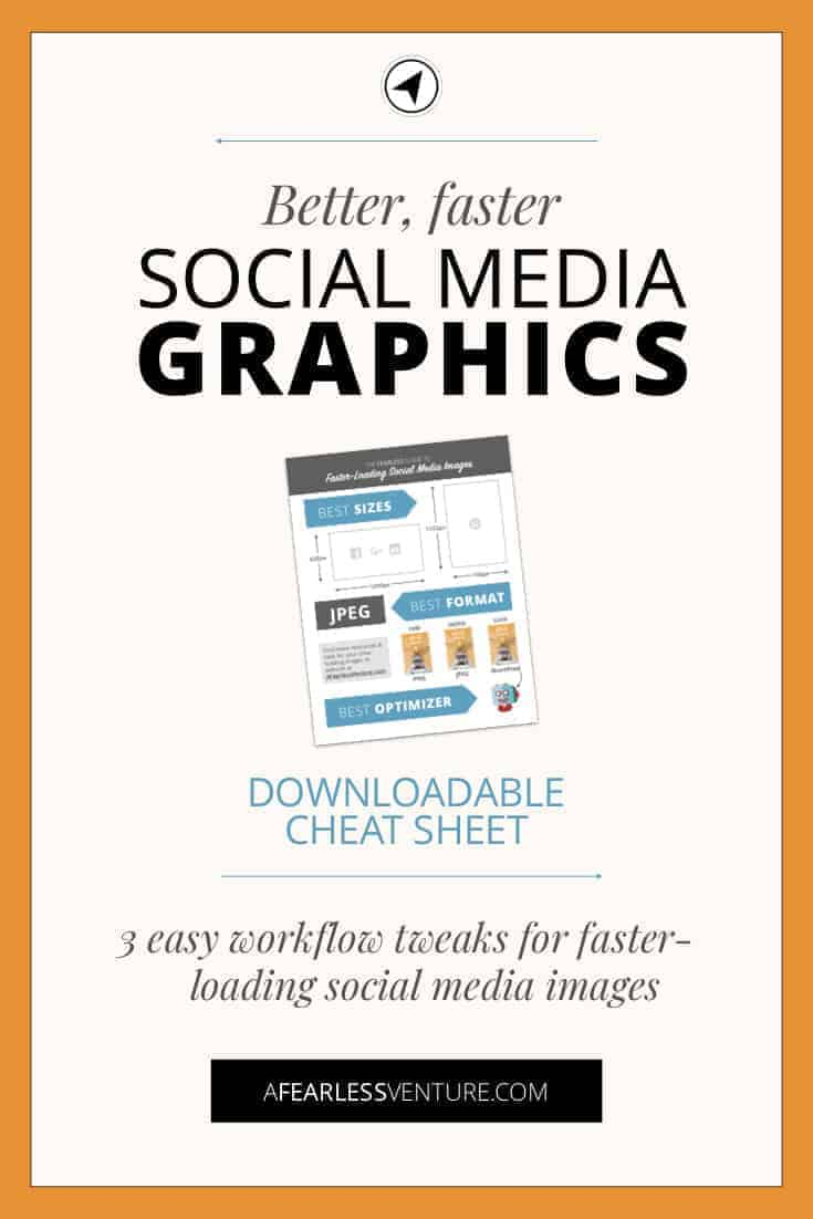 You work hard on your blog. You research, write, edit & then create gorgeous images to accompany your posts. But what if the way you create social media images is slowing your site? Losing visitors and page views? Click through for EASY ways to change up your workflow for quick site speed wins. #pinterest #blogging #blog #graphics #canva #google #pagespeed #sitespeed #imageoptimization #WordPress